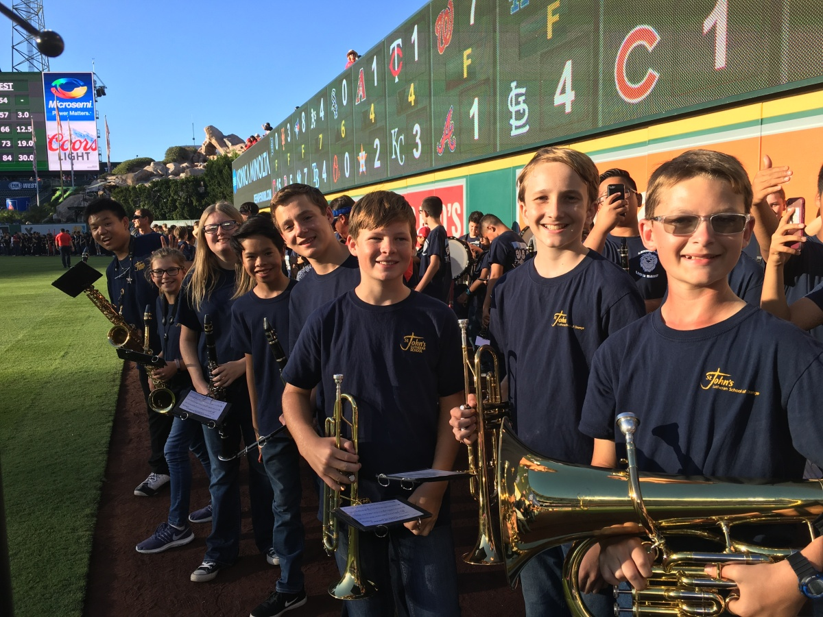 SJLS Band at Angels Stadium!