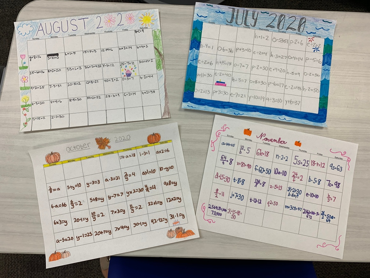 The Algebraic CalendarProject