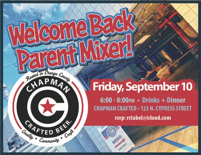 Parent Mixer TONIGHT!
